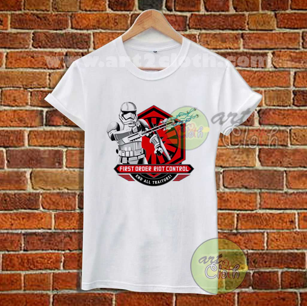 First order riot control stormtrooper t shirt star wars t for Order custom t shirts cheap