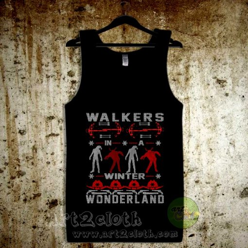 Walkers In a Winter Wonderland Unisex Adult Tank Top