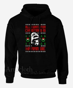 All I Want For Christmas Is Harambe Ugly Christmas Hoodie