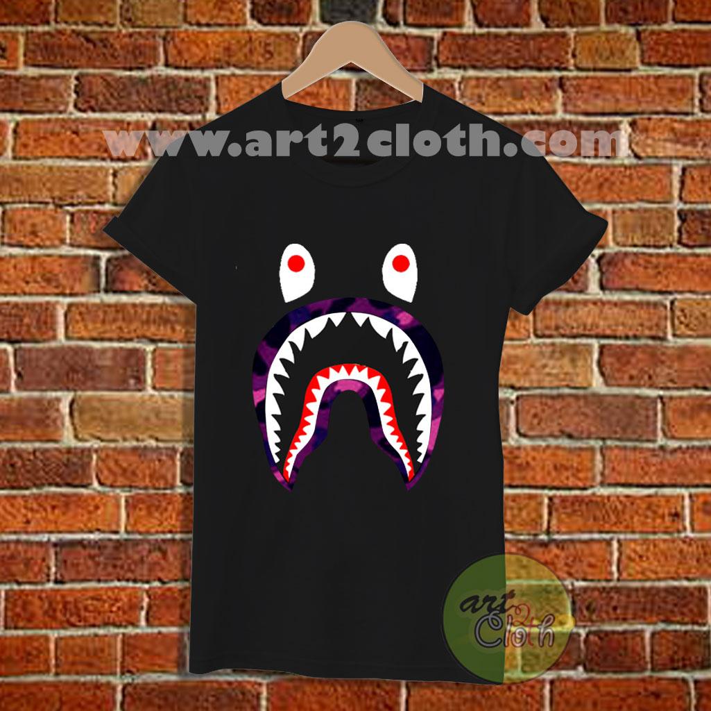8cc2b422 Bape Shark Camo T Shirt | Cheap Custom T Shirts - Art2cloth.com