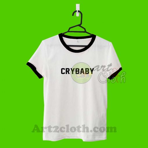 Cry Baby Letter Unisex Ringer T Shirt