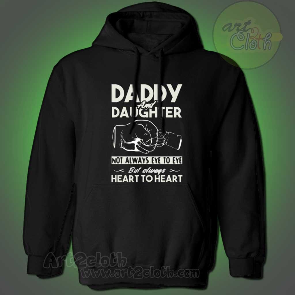 388b63cb Daddy And Daughter Not Always Eye To Eye Hoodie | Cheap Custom T Shirts -  Art2cloth.com
