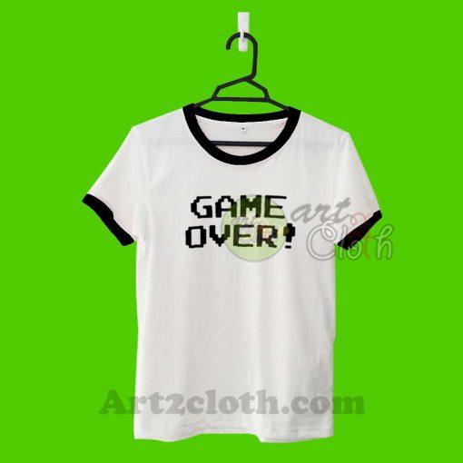 Game Over Unisex Ringer T Shirt