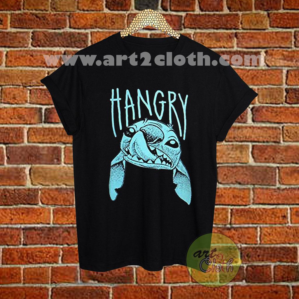 Lilo And Stitch Hangry Disney T Shirt Cheap Custom T Shirts