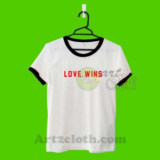 Love Wins Tumblr Unisex Ringer T Shirt