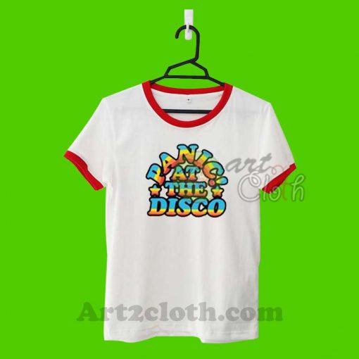 Panic At The Disco P!atd Rainbow Unisex Ringer T Shirt