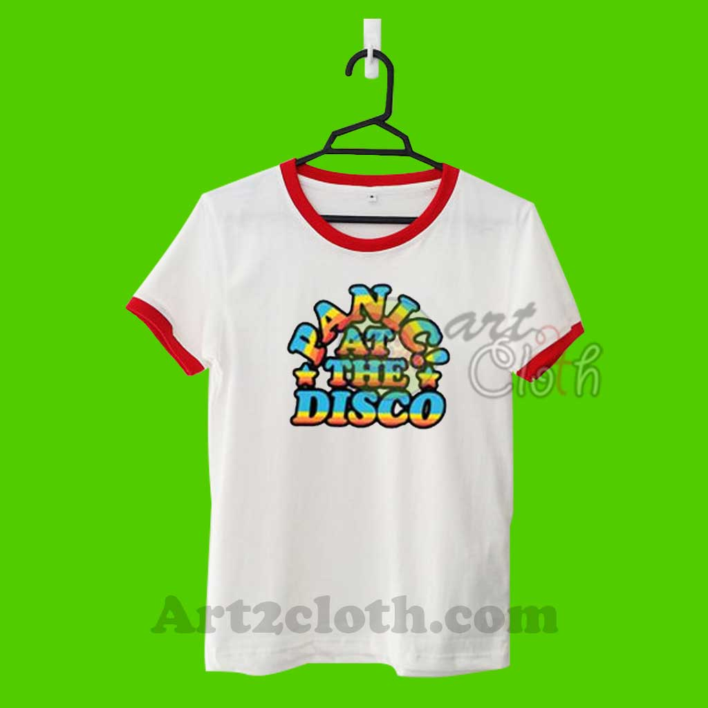 a56dc64e Panic At The Disco P!atd Rainbow Unisex Ringer T Shirt | Cheap Custom T  Shirts - Art2cloth.com