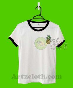 Pineapple Unisex Ringer T Shirt