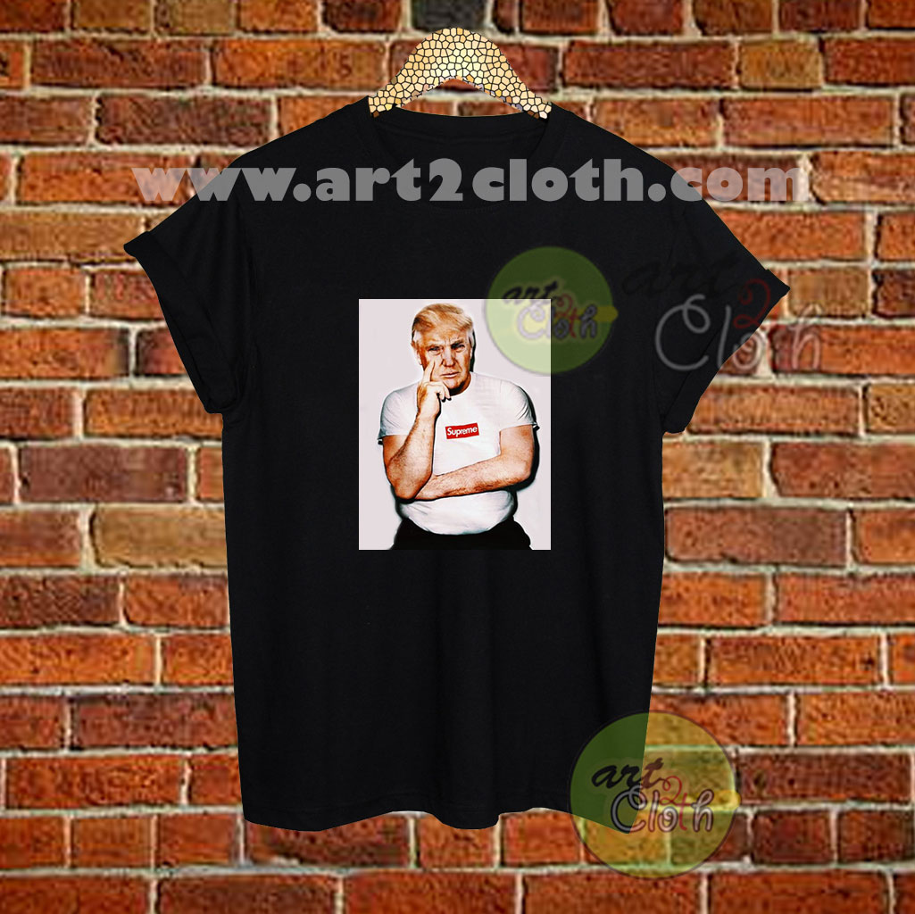 Supreme With Trump Inspired T Shirt Size Xs S M L Xl 2xl