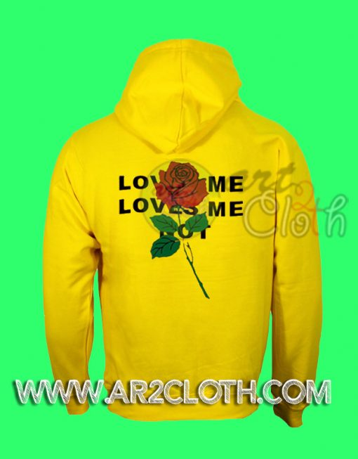 Love Me Red Rose Yellow Hoodie
