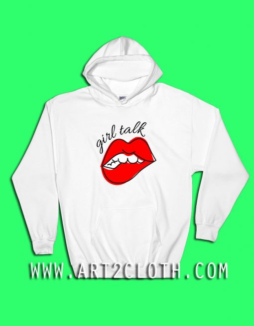 Girl Talk Red Lips Hoodie