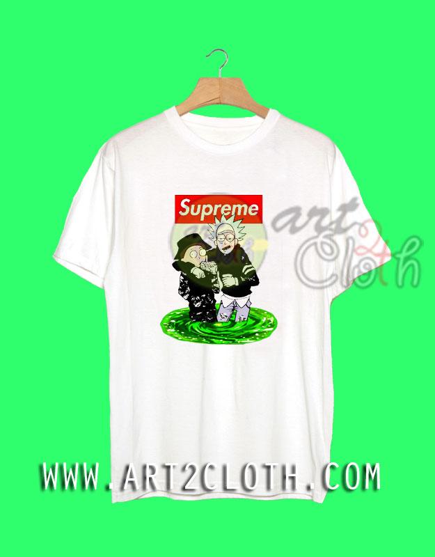 Rick Morty Supreme Style T-Shirt
