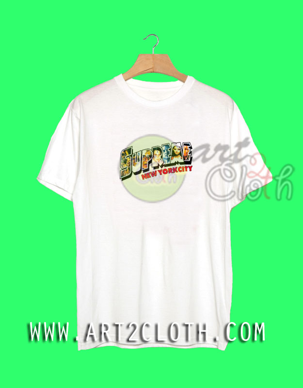 Supreme New York City T Shirt Cheap Custom T Shirts