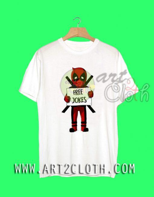 Free Jokes Deadpool T-Shirt
