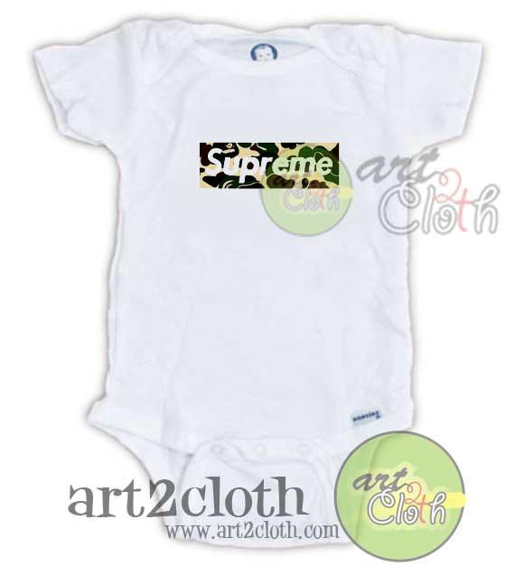 0032ee2457bd Supreme Bape Box Baby Onesie