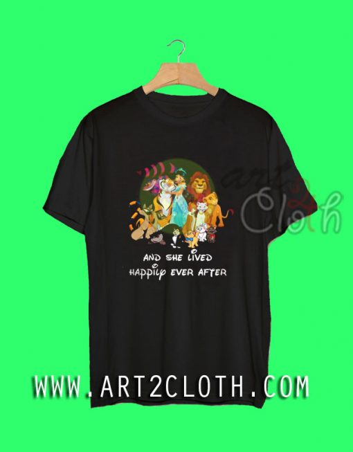 Jasmine Princess and Walt Disney Animals T Shirt