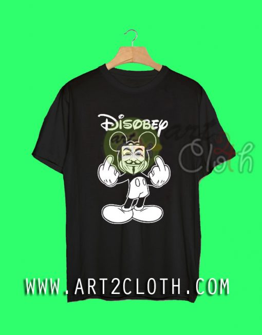 Mickey Mouse Disobey Anonymous Mask T Shirt