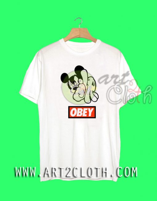 Mickey Mouse Obey T Shirt