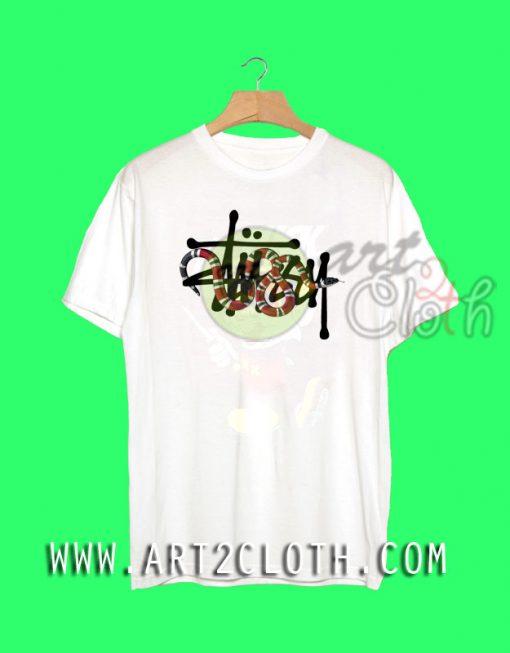 Stussy x Gucci Snakes T Shirt
