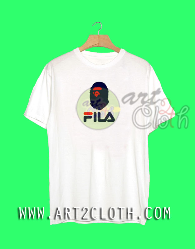 df57632f A Bathing Ape BAPE x FILA Collaboration T Shirt | Cheap Custom Tee