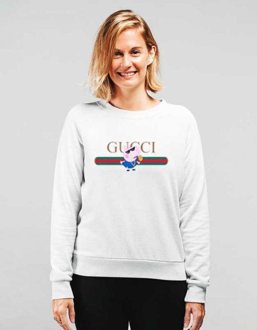 Vintage Gucci Peppa Pig Thug Life Sweatshirt