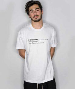 Inconceivable Definition T Shirt