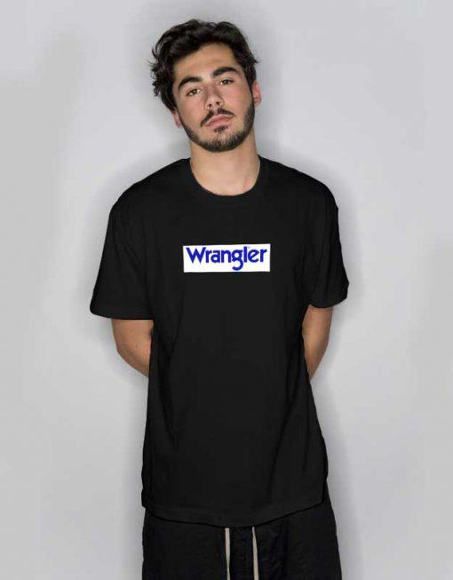 Black Wrangler Logo T Shirt