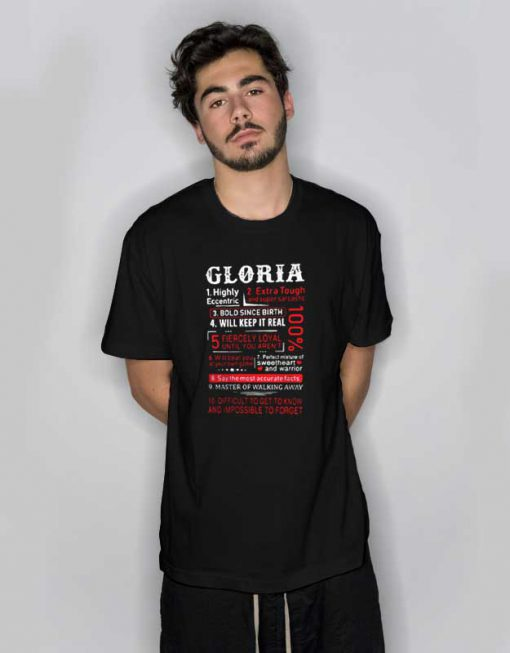 Gloria Ten Things About Her T Shirt