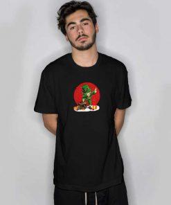 Irish Dabbing Christmas Black T Shirt