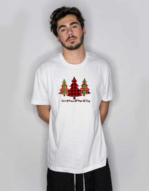 Love Peace Hope Joy Tree T Shirt