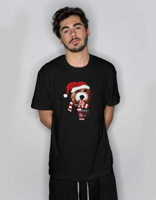 Merry Christmas Y'all Oliver Dog T Shirt