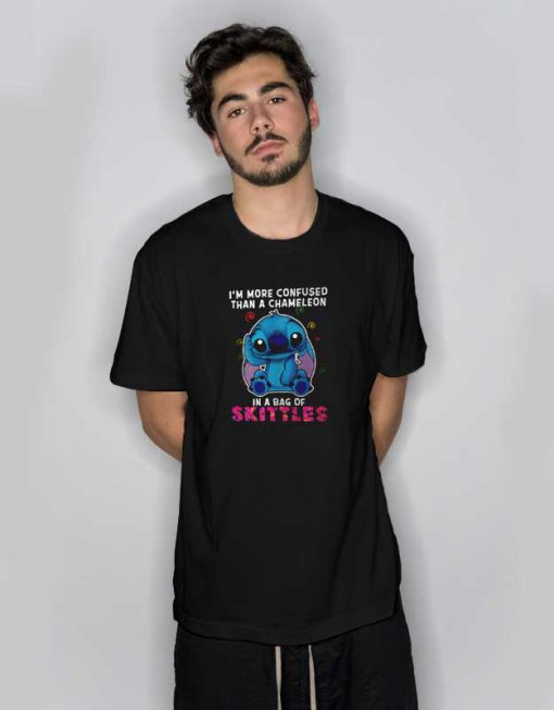 Stitch I'm More Confused Than A Chameleon T Shirt