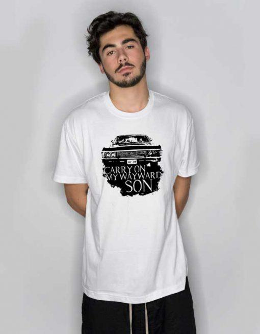 Carry On My Wayward Son Car T Shirt