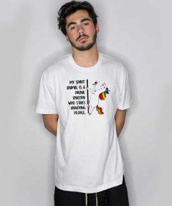 My Spirit Animal Is A Drunk Unicorn T Shirt