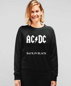 Acdc Back In Black Sweatshirt