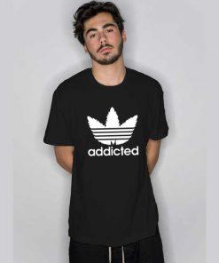 Addicted Adidas Parody T Shirt