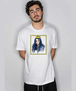 Billie Eilish Square Pic White T Shirt