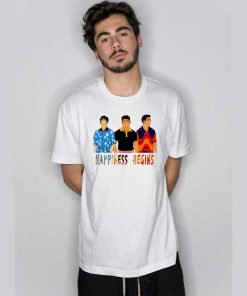 Jobros Happiness Begins T Shirt
