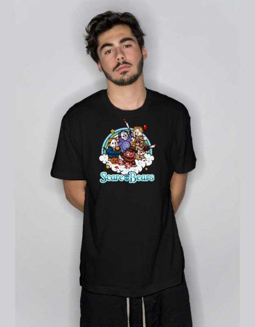Scare Bears Skull Horror T Shirt