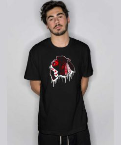 Hawks Drip Black T Shirt