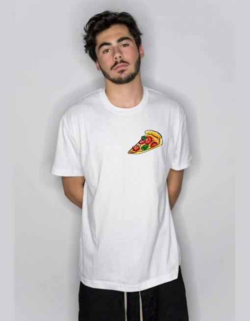 Pizza Slice Ringer Pocket T Shirt