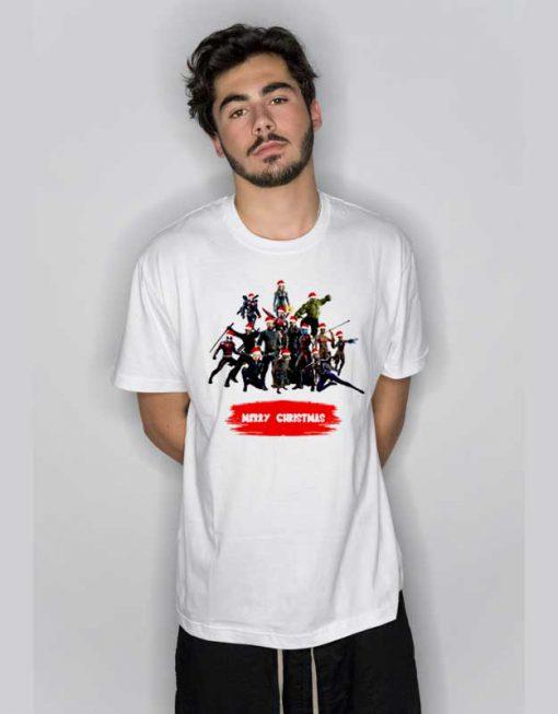 Avengers Comics Merry Christmas T Shirt