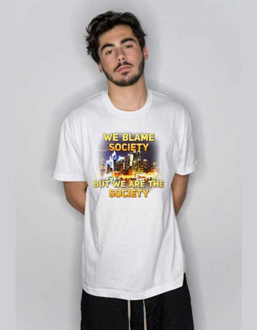 Blame Saociety Jayz Music NYC City T Shirt
