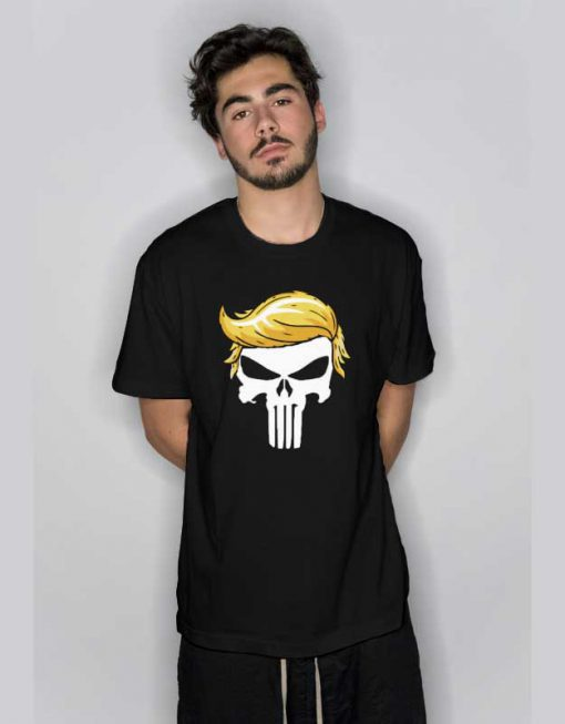 Donald Trump Punisher Skull Parody T Shirt