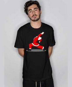 Funny Yoga Pose Santa Christmas T Shirt