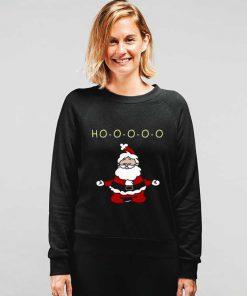 Santa Meditation Funny Christmas Sweatshirt