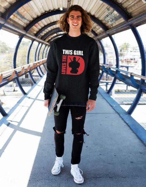 This Girl Loves The Deadpoll Sweatshirt